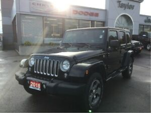 2018 Jeep Wrangler Unlimited Sahara w/Navi, Remote Start, Freedo