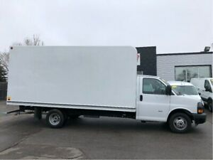 2018 Gmc Savana 3500 16ft cube with ramp.