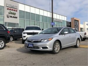 2012 Honda Civic EX - BEST VALUE, LOWEST KMS! Roof, Auto CLEAN!
