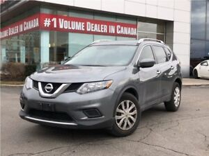 2016 Nissan Rogue S FWD|OFF LEASE|ONE OWNER|PW, PL|BACKUP CAM