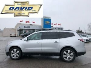 2016 Chevrolet Traverse LTZ AWD, LEATHER, NAVIGATION, DVD, QUADS