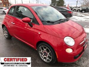 2012 Fiat 500 Pop ** 5 SPEED, A/C, LOW KM **