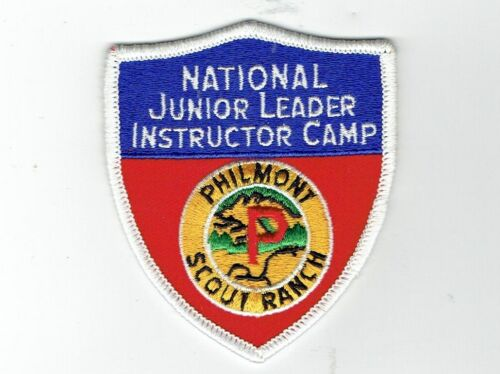 """PHILMONT SCOUT RANCH - National Junior Leader Instructor Camp """"Shield"""" Patch"""