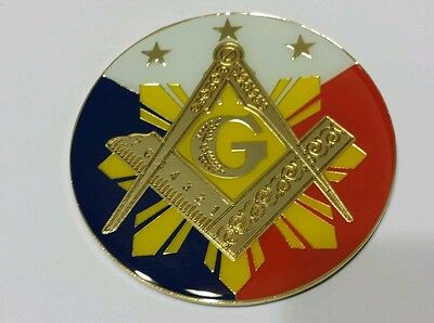 Freemason Masonic Car Emblem