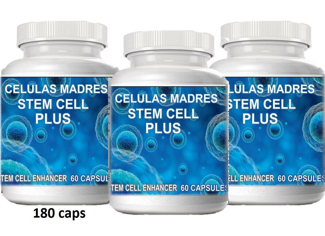 3 CELULAS MADRE,ACTIVADOR.180 Capsulas,bioxcell.Bacterium plus,Biomatrix