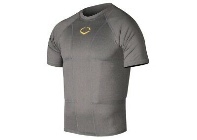 Evoshield Youth Size M Gray Performance Rib Shirt Graphite Football Gear