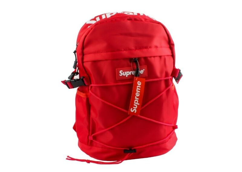 Supreme 304 Backpack FW18 Red Pre-owned travel laptop ss19 school bag pouch