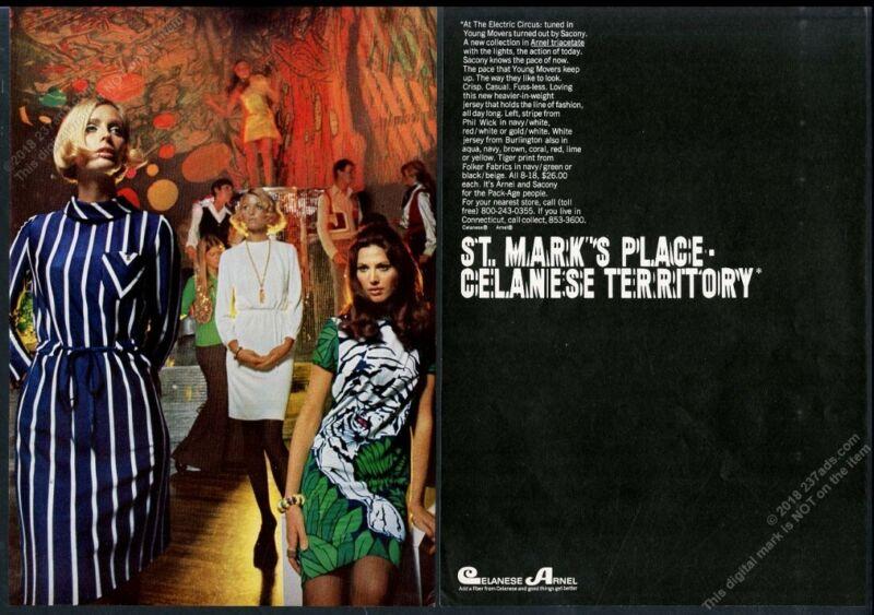 1968 Electric Circus nightclub club New York City photo Celanes vintage print ad