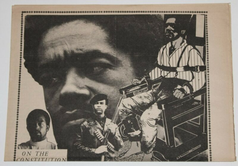 Black Panther Party 1970 Original Constitution Poster Malcolm X Huey Newton L79