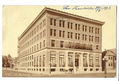 1913 Printed Photo Postcard ~ YMCA Building, Oakland, California
