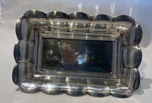 Reed & Barton Centerpiece Bowl by Silver plate Scalloped Edge 0126 hallmarked