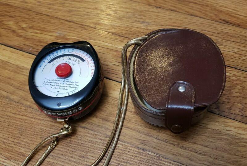 NICE! Vintage Gossen Sixticolor Color Temperature Meter w/ Case