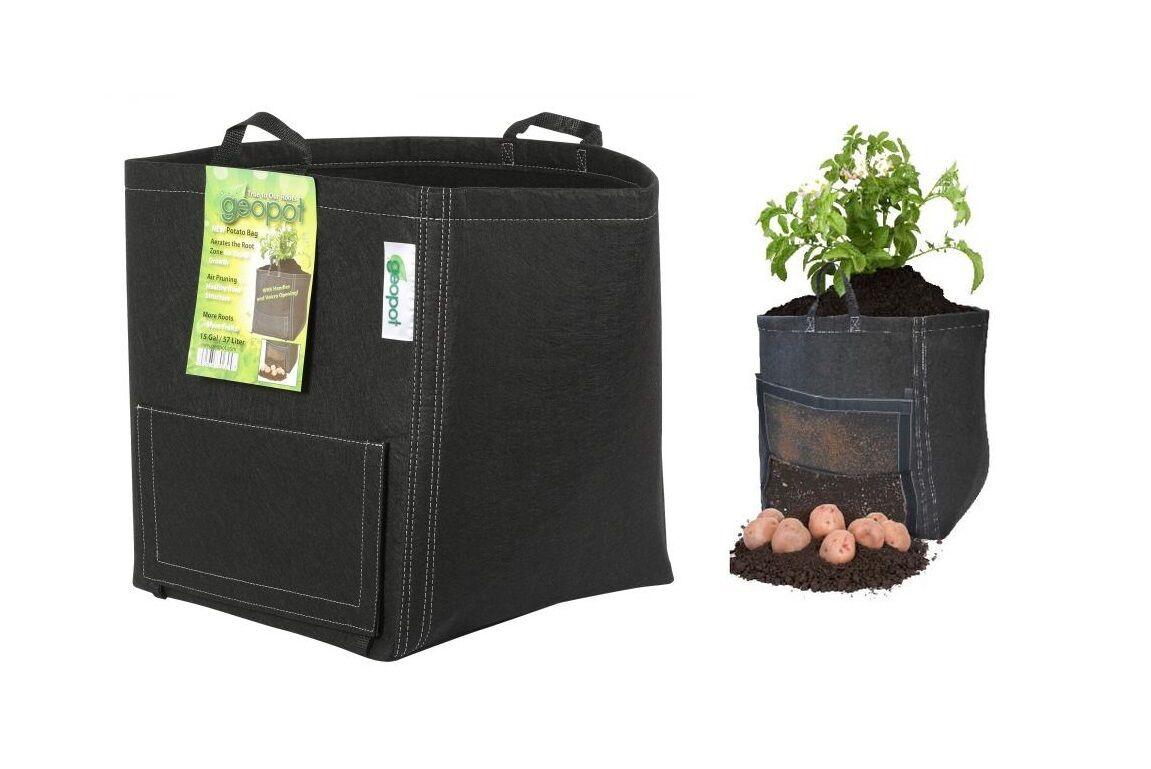 15 Gallon Geopot Fabric Potato Bag Pot Planter Container Save W Bay Hydro