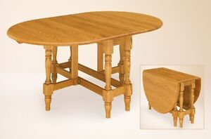 Farmhouse-Dining-Table-Space-Saving-Fold-Up-Drop-Side-Wood-Furniture ...