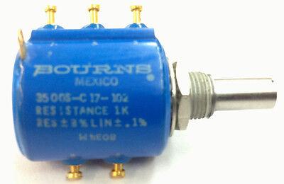 New Bourns 3500s-c17-102 Potentiometer 1000 Ohm 1k Ohm 10 Turn Pot