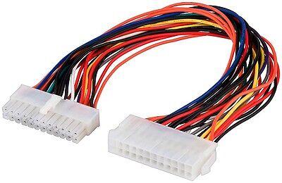 24 PIN Stromkabel Verlängerung ATX 24 polig Stecker auf 24 polig Buchse 0,30m