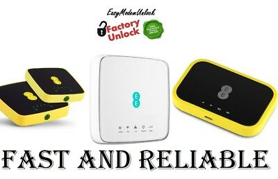 Unlock code 4 latest EE 4GEE Router HH70VB 4GEE WiFi / Mini EE70 & EE120-2AE8GB3
