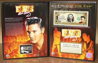 ELVIS PRESLEY *75th Birthday* Legal Tender U.S. $2 Bill with COLLECTIBLE FOLIO