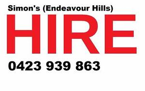 Simon's Hire (Endeavour Hills) Endeavour Hills Casey Area Preview