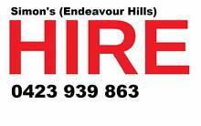 Simon's Hire (Endeavour Hills) Endeavour Hills Casey Area Preview
