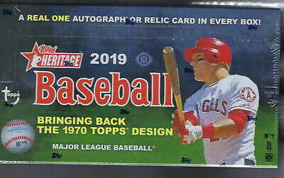 2019 TOPPS HERITAGE BASEBALL SEALED HOBBY BOX, 24 PACKS/9 CARDS FROM 12 BOX CASE