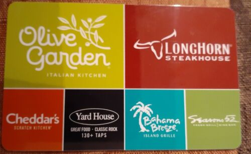 50 Olive Garden, Longhorn Steakhouse And More, Gift Card - $45.00