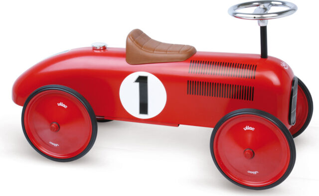 Vilac RED METAL CAR Baby/Toddler Ride-on Toy Training Activity Development - BN