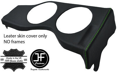 GREEN STITCH GAUGE SPEEDO SURROUND TRIM LEATHER COVER FOR JAGUAR E TYPE S2