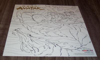 AVATAR THE LAST AIRBENDER Coloring Book NYCC EXCLUSIVE POSTER ART NEW