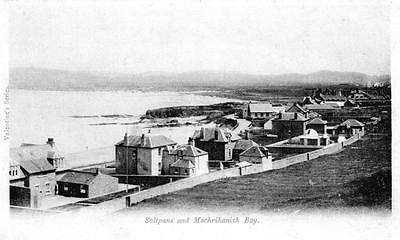 Saltpans Machrihanish Bay Nr Campbletown unused old postcard Valentines