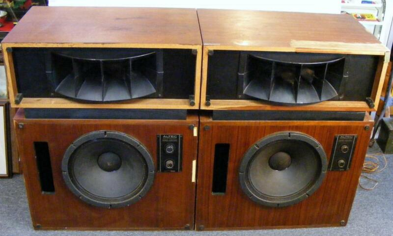Working Pair Of Altec Lansing Model Nineteen (19) Speakers With Crossovers