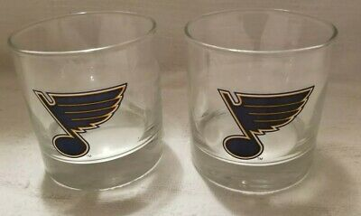 Set Of 2 St Louis Blues Hockey Rocks (Louis Blues Rocks Glass)