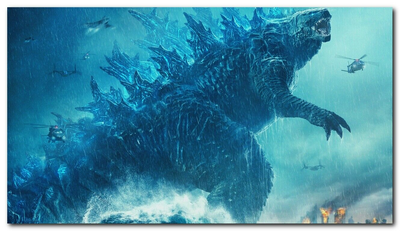 New Godzilla King Of The Monsters 2019 Silk Wall Poster ...