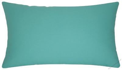Aqua Blue Solid Decorative Throw Pillow Cover / Cushion Cover 12x20