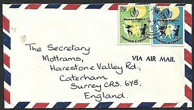 Trinidad & Tobago 1968 Human Rights 25c 10c Cover to England