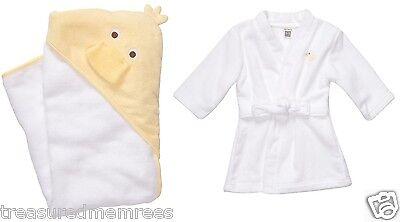 Carter's Little Layette Terry Velour Bath Robe & Bath Towel Gift Set ~ NWT