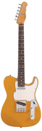FRET King FBSTBSC Super T Country Squire Electric Guitar Butterscotch + Gigbag