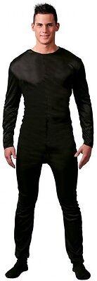 Herren Schlicht Schwarz Voll Länge Overall Body Schatten Kostüm Kleid Outfit