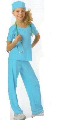 Doctor BLUE Dance Costume Scrubs & Cap Dentist Nurse Clearance Child & Adults (Kids Nurses Outfit)