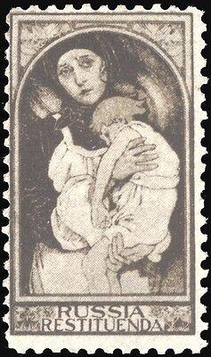 Alphonse Mucha - Russia Restituenda (Restore) Charity Poster Stamp