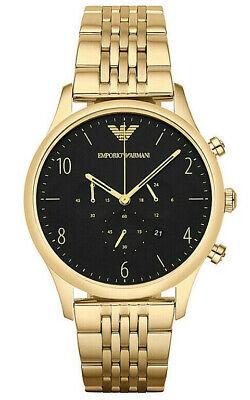 Emporio Armani AR1893 Classic Herrenuhr Chronograph Edelstahl Gold Armband Datum