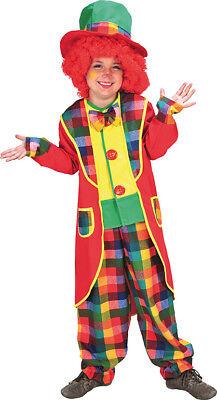 Clown Anzug Kinder Kostüm Junge Mädchen Zirkus Karneval (Mädchen Zirkus Clown Kostüm)