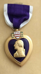 Authentic purple heart war medal