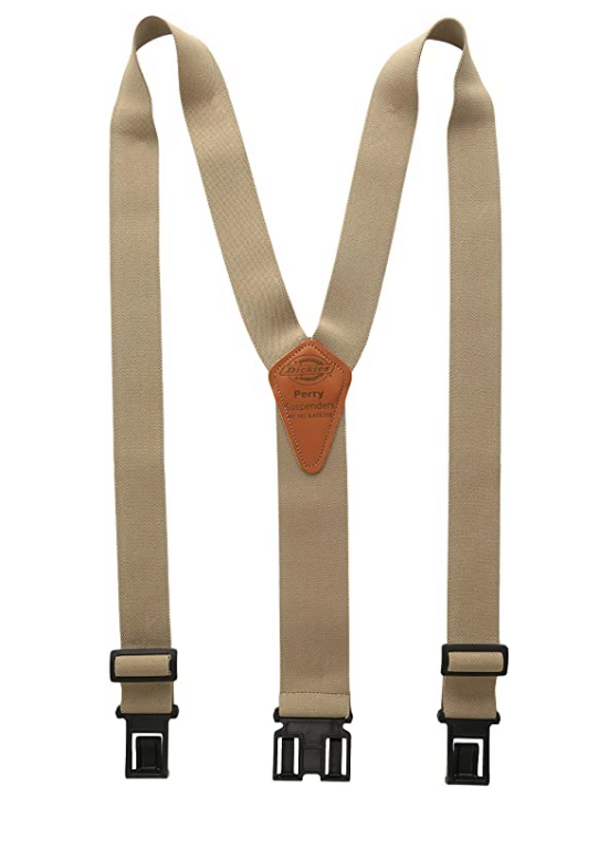 Heavy Duty Clip Suspenders Men'S Adjustable Back Straps With