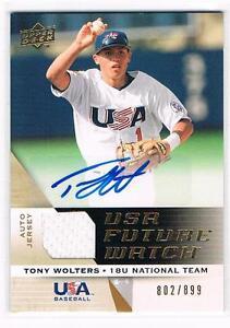 2009-UD-USA-TONY-WOLTERS-Auto-Jersey-Future-Watch-899