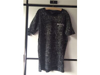 Nicce T-shirt Black with white spots