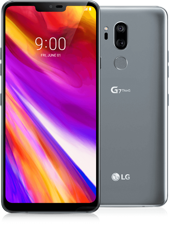 Android Phone - New LG G7 ThinQ LMG710VM - 64GB - New Platinum Gray (Verizon)