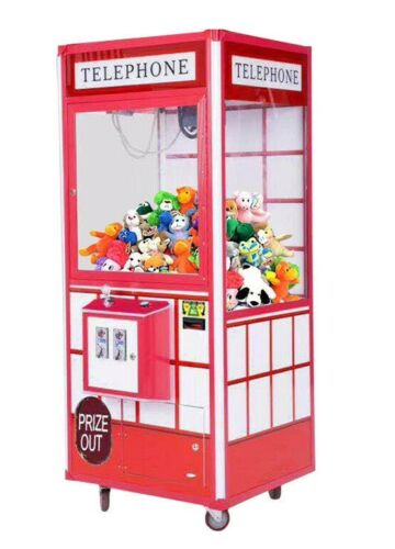 "Telephone 33"" Prize Crane Claw Machine For Arcade Redemption Machine with DBA"