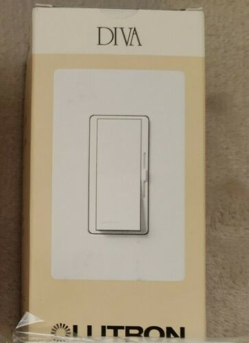 Lutron Diva DVSTV-WH Dimmer For 0-10V LED/Fluors.Fixtures Single Pole/3 Way