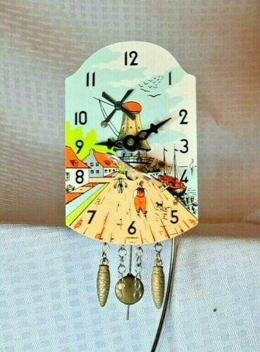 Vintage German Miniature Clock - Key and Pendulum